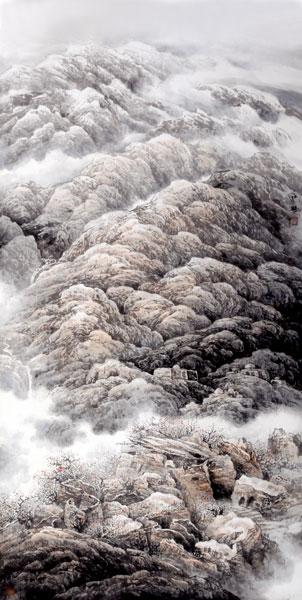杨永旺作品,中国画《古道悠悠》