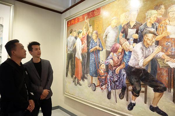 改革开放40周年兵团美术书法摄影作品展举办