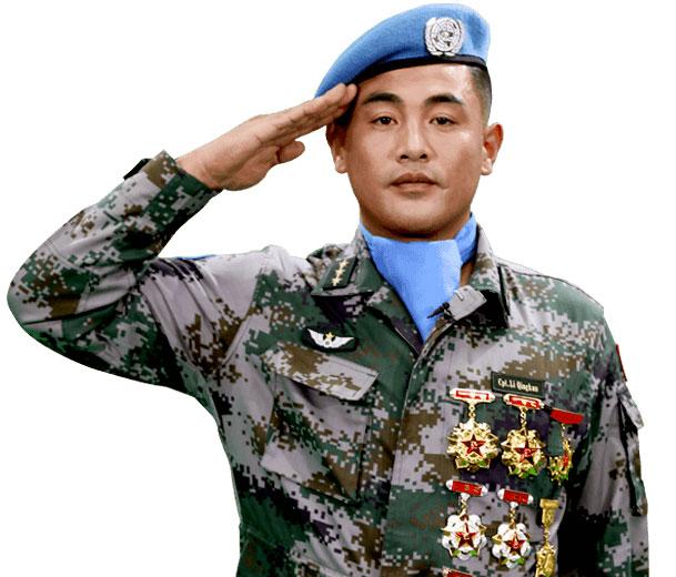 我的背后是祖国——李庆昆