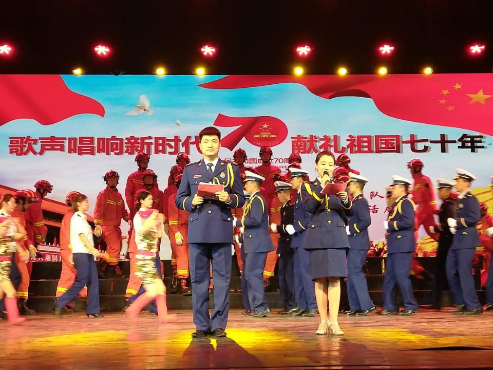 石河子市消防救援支队举办红歌合唱比赛