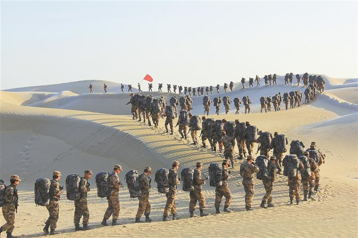 兵团干部群众参加2020年度民兵大冬训掠影:牢记使命 锻造精兵