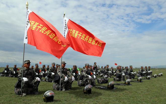 七十六团召开2020年基干民兵整组集合点验大会