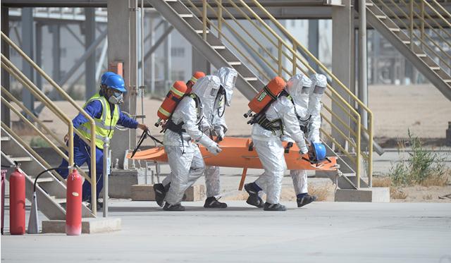 一师阿拉尔市举行生产安全事故应急救援演练