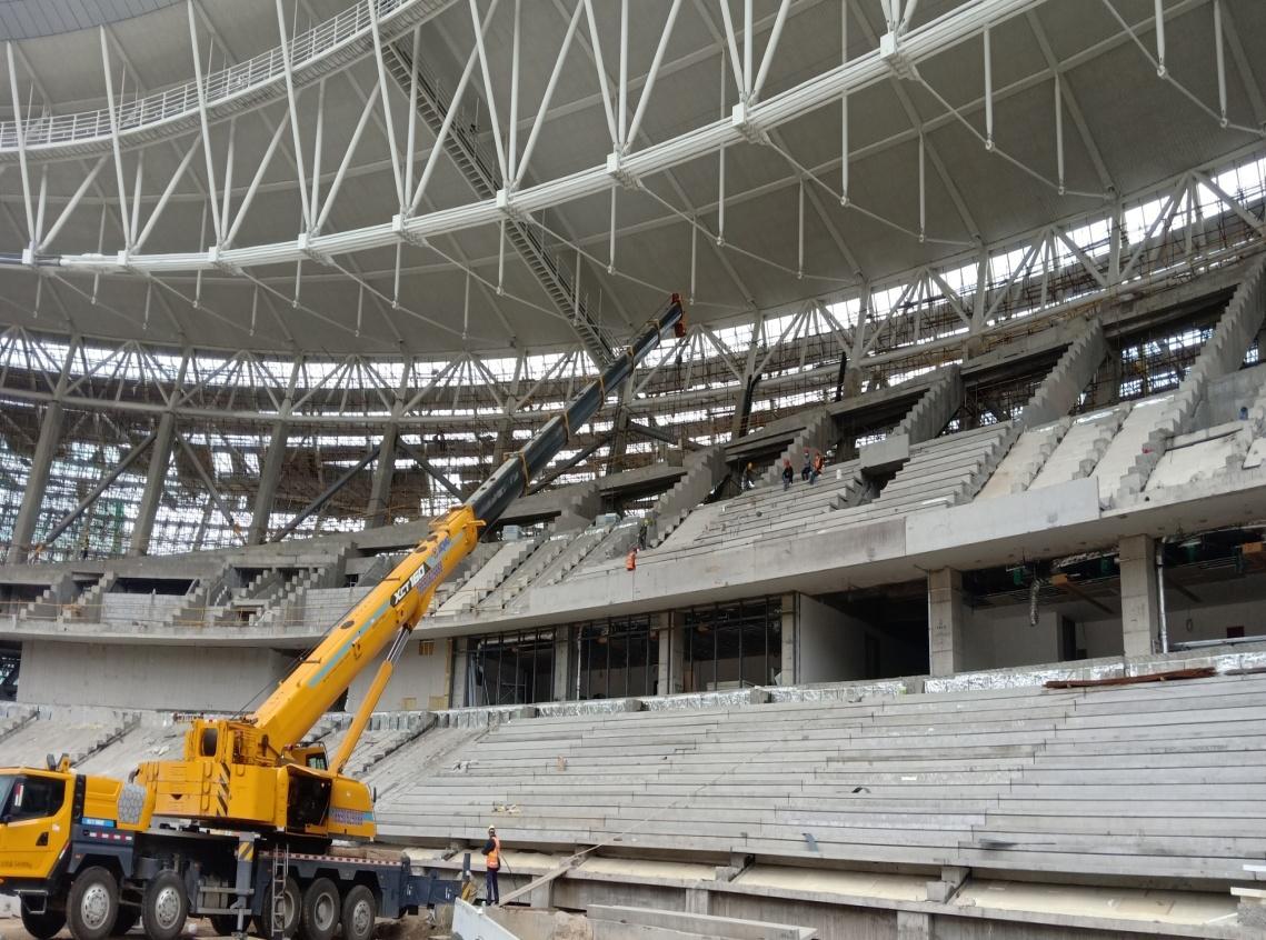乌鲁木齐奥体中心体育场有序施工生产