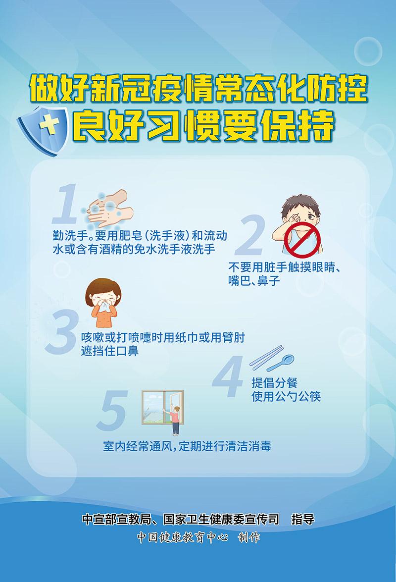 海报:做好新冠肺炎疫情常态化防控