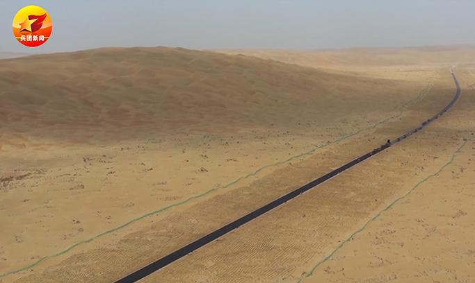 """微视频丨穿越""""死亡之海""""第三条沙漠公路开始铺油!"""
