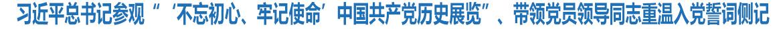 """习近平总书记参观""""'不忘初心、牢记使命'中国共产党历史展览""""侧记"""